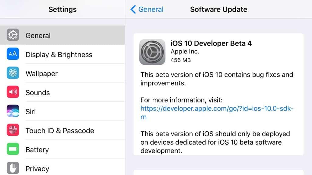 Apple releases fourth developer betas for iOS 10, tvOS 10 + watchOS 3