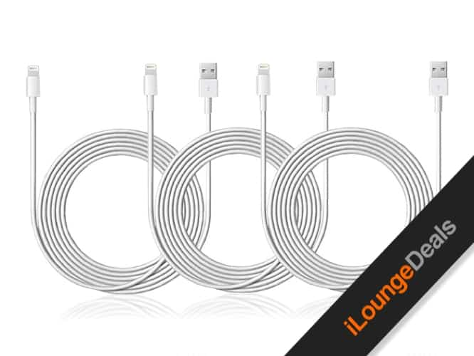 Daily Deal: 10' Lightning-to-USB Cable, 3-Pack