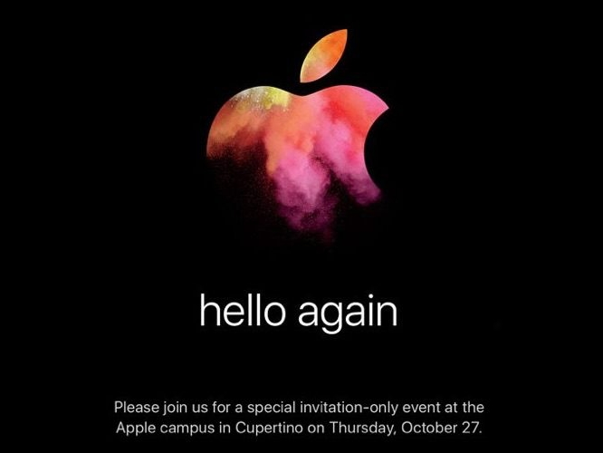 Apple sends out press invites for 'Hello Again' Oct. 27 Mac event