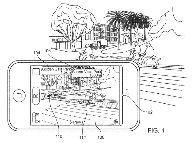Apple patents augmented reality mapping system