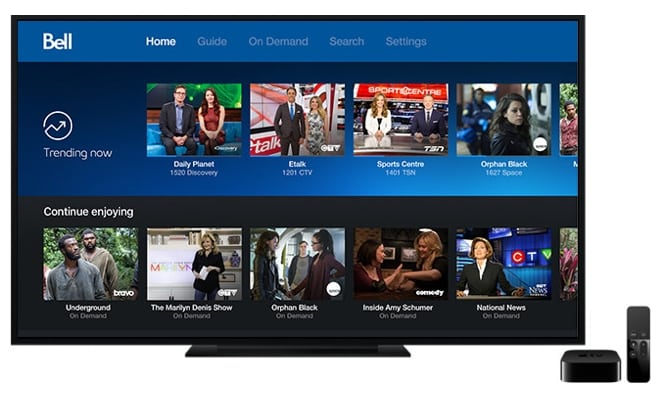 Bell announces Fibe TV support for Canadian Apple TV users