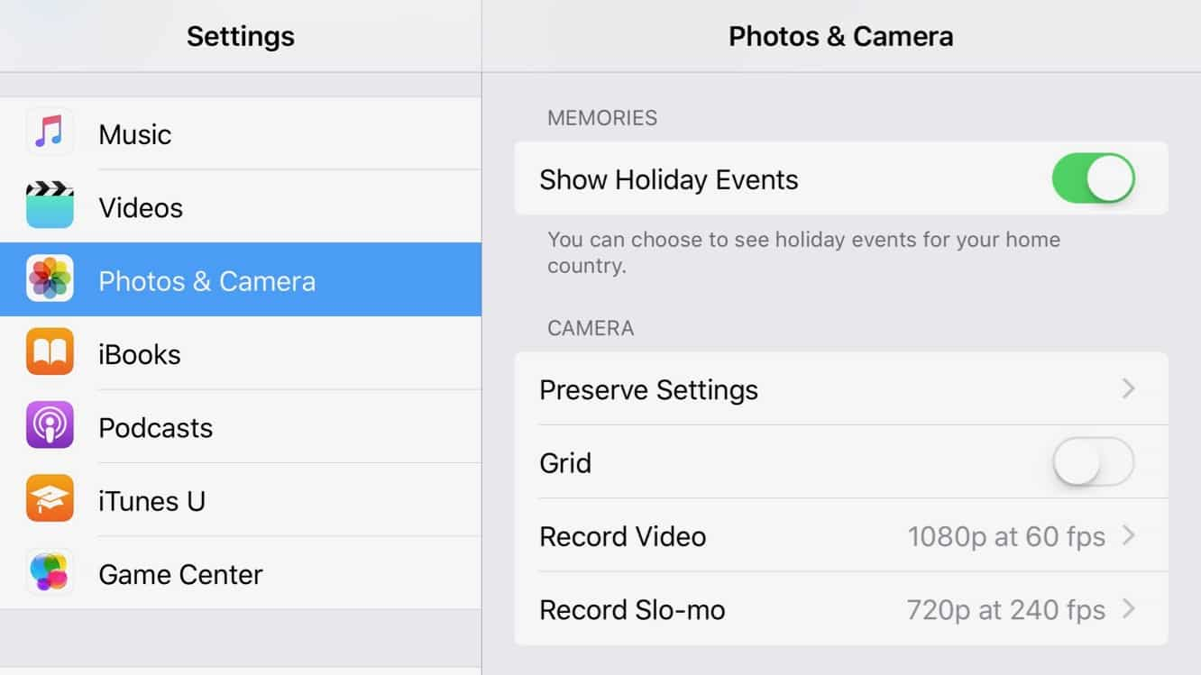 Showing Holiday Memories in iOS 10 Photos