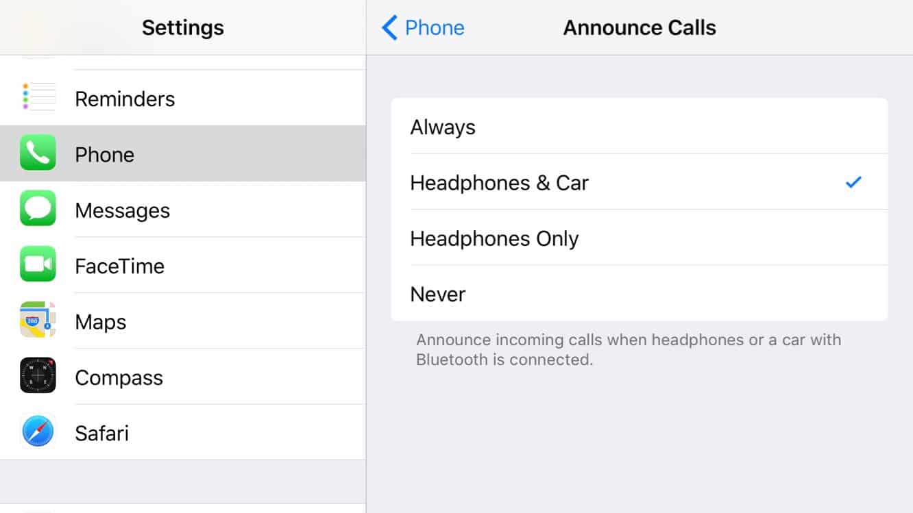 Announcing Incoming Calls in iOS 10