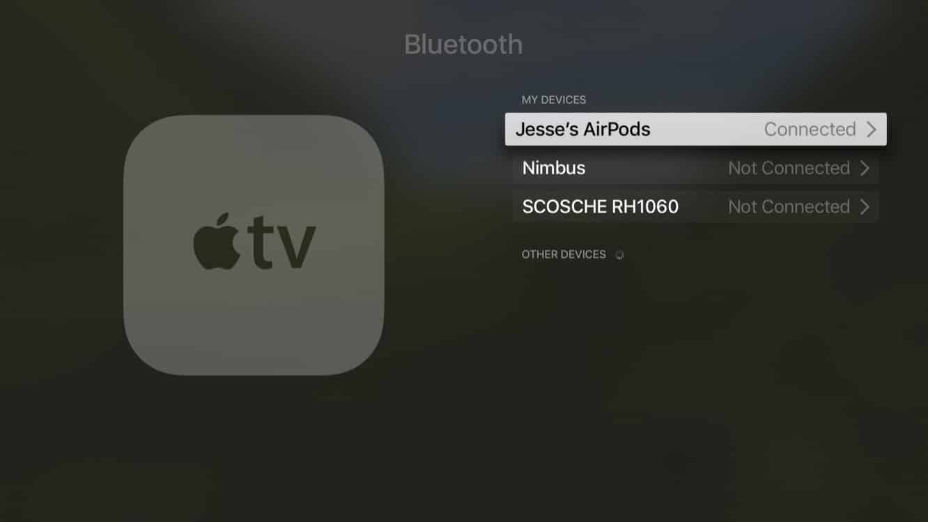 Using AirPods with your Apple TV