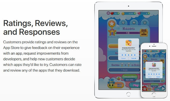 Apple adds ability for developers respond to apps reviews, tweaks in-app rating prompt rules
