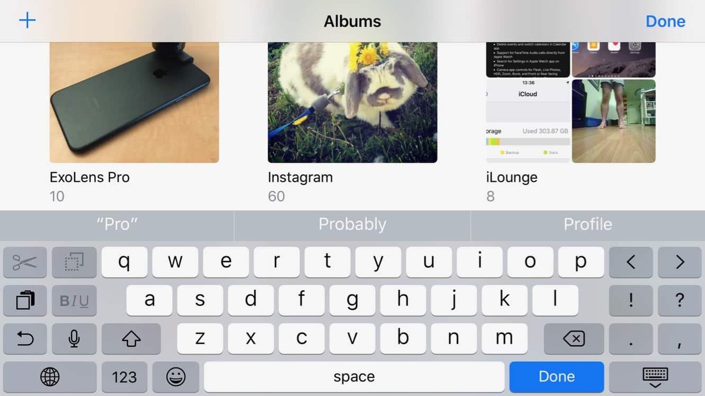 Renaming Albums in the iOS 10 Photos app