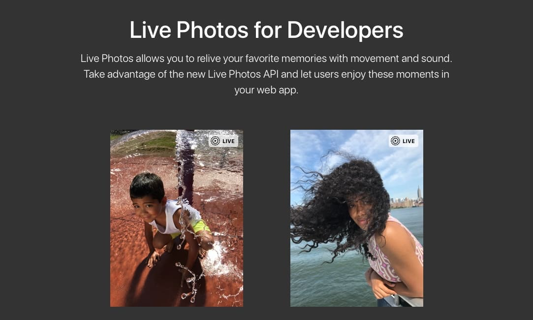 Apple releases JavaScript API for playing Live Photos on the web