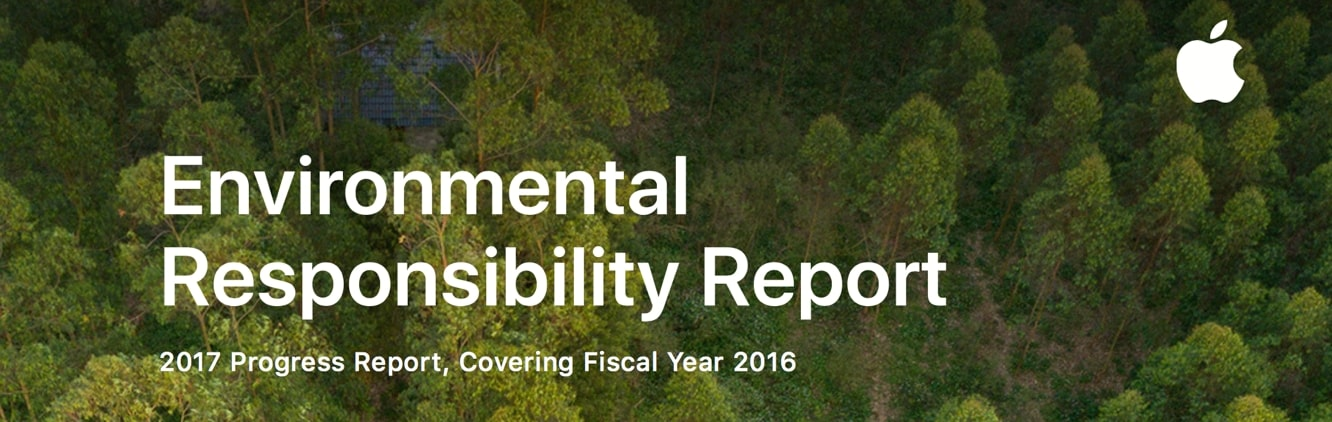 Apple releases 2017 Environmental Responsibility Report