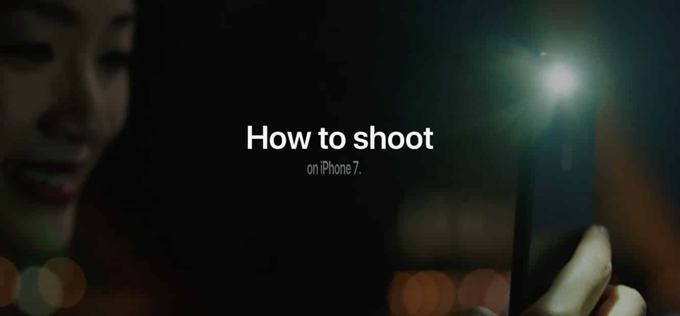 Apple publishes 'How to shoot on iPhone 7' tutorial series