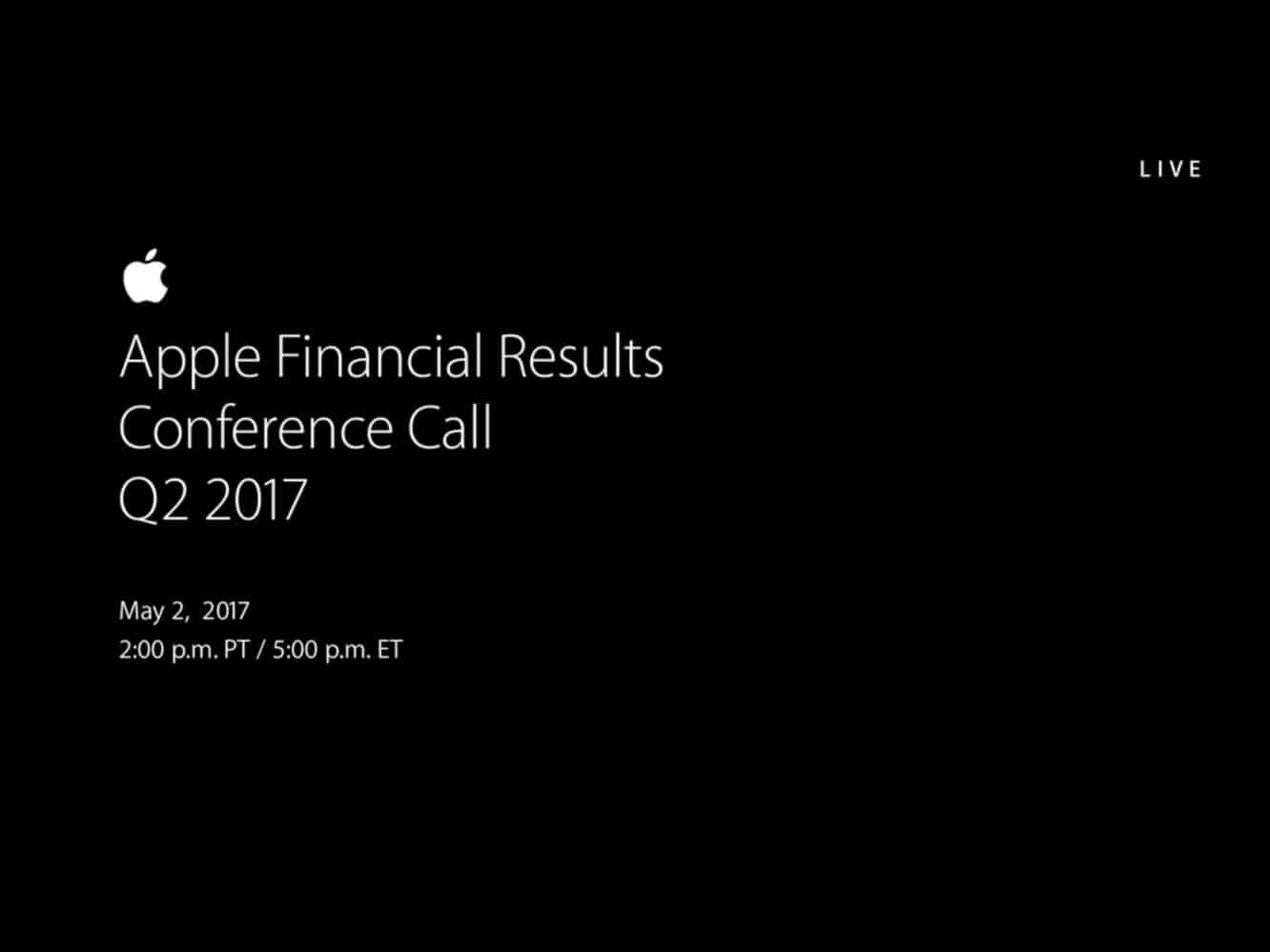 Notes from Apple's Q2 2017 earnings call