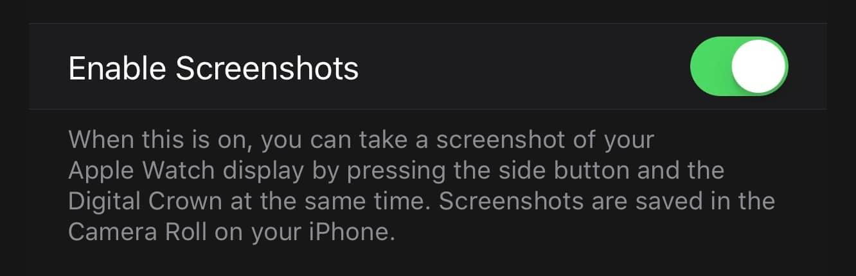 Taking screenshots on your Apple Watch