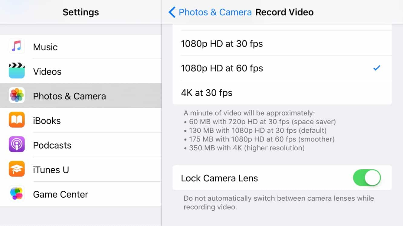 Avoiding lens switching when shooting video on the iPhone 7 Plus