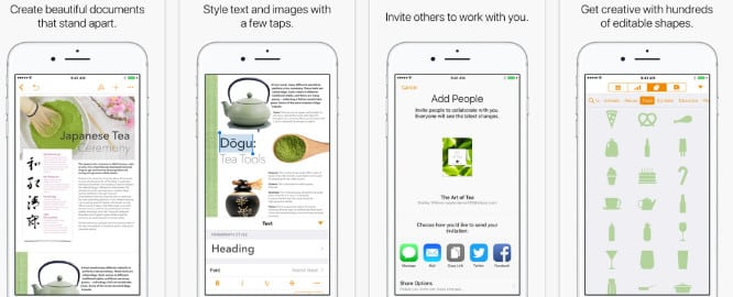 Apple updates iWork apps with autocorrect improvements, hundreds of new shapes