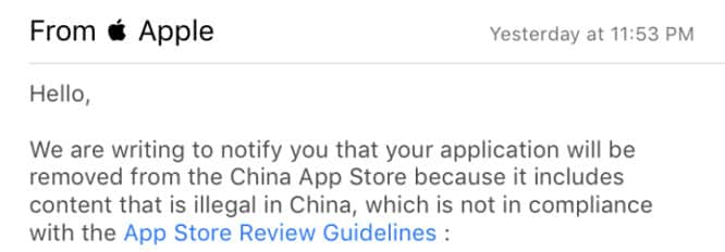 Apple pulls VPN apps from China's App Store over new government rules