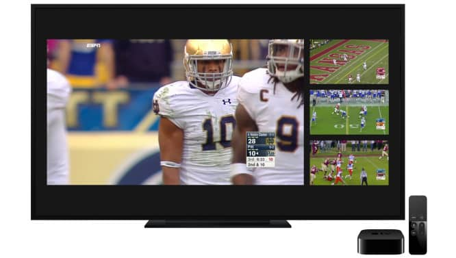ESPN tvOS app now streams 4 games at once; Walmart's streaming service coming to Apple TV