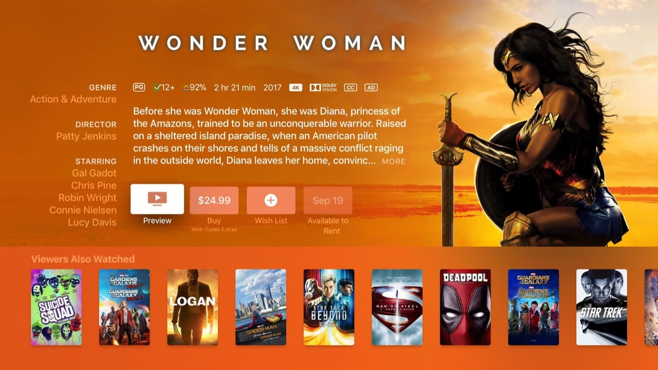 4K Movies begin appearing on iTunes
