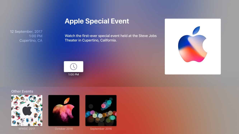Apple Events app gets update ahead of Sept. 12 keynote