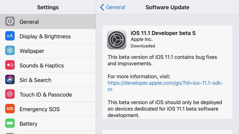 Apple releases fifth developer betas for iOS 11.1, watchOS 4.1