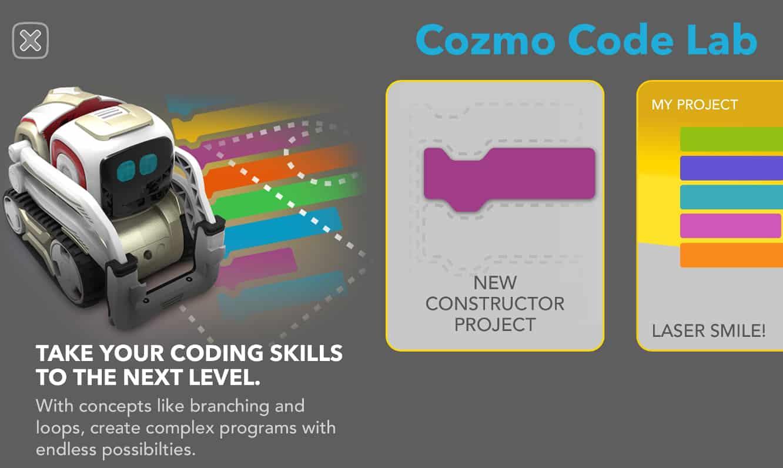 Anki's Cozmo Code Lab update enhances programming capabilities, adds new Constructor mode