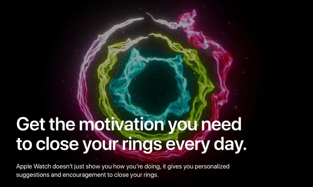 Apple promotes Apple Watch fitness with new 'Close Your Rings' page