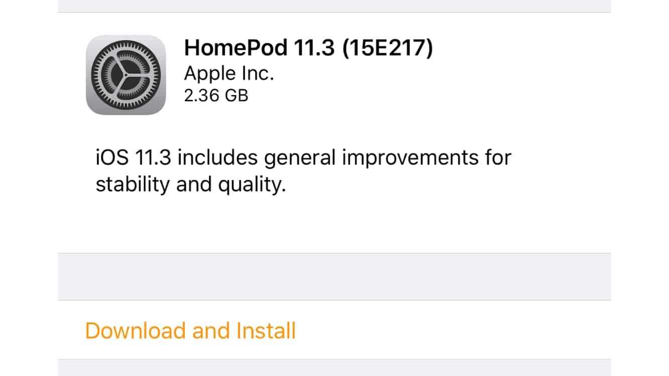 Apple releases first HomePod software update