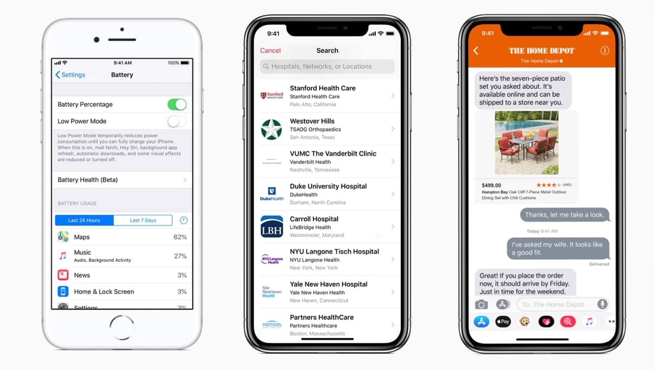 Apple releases iOS 11.3 with Battery Health, Health Records, Business Chat and more