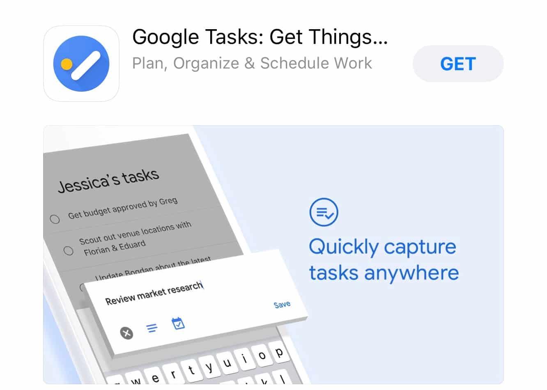 Google releases 'Google Tasks' for iOS