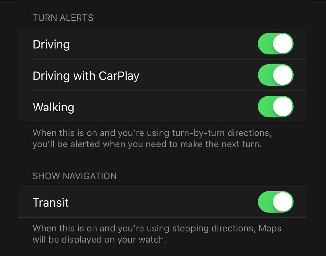 watchOS 5 will allow Apple Maps alerts to be customized