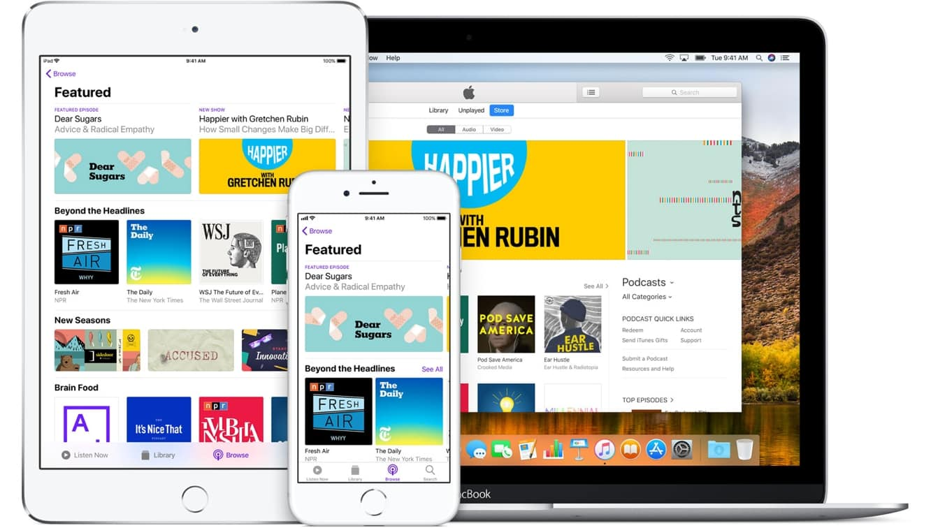 More than 550,000 shows now available on Apple Podcasts
