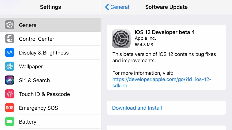 Apple seeds fourth developer betas of iOS 12, tvOS 12 + watchOS 5