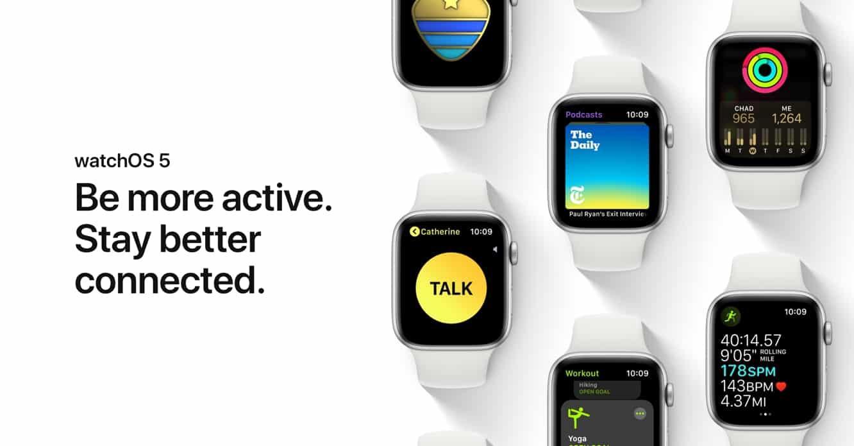 Apple releases watchOS 5