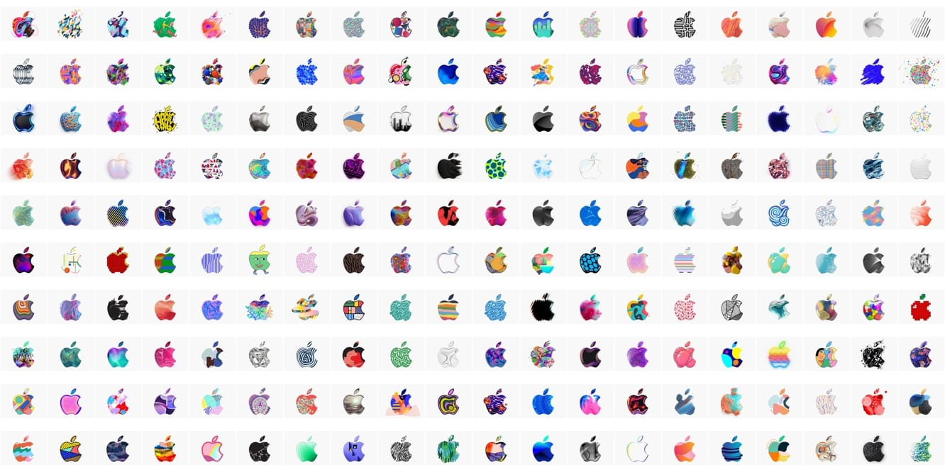 Apple designed 371 logos for its Oct. 30 event invites