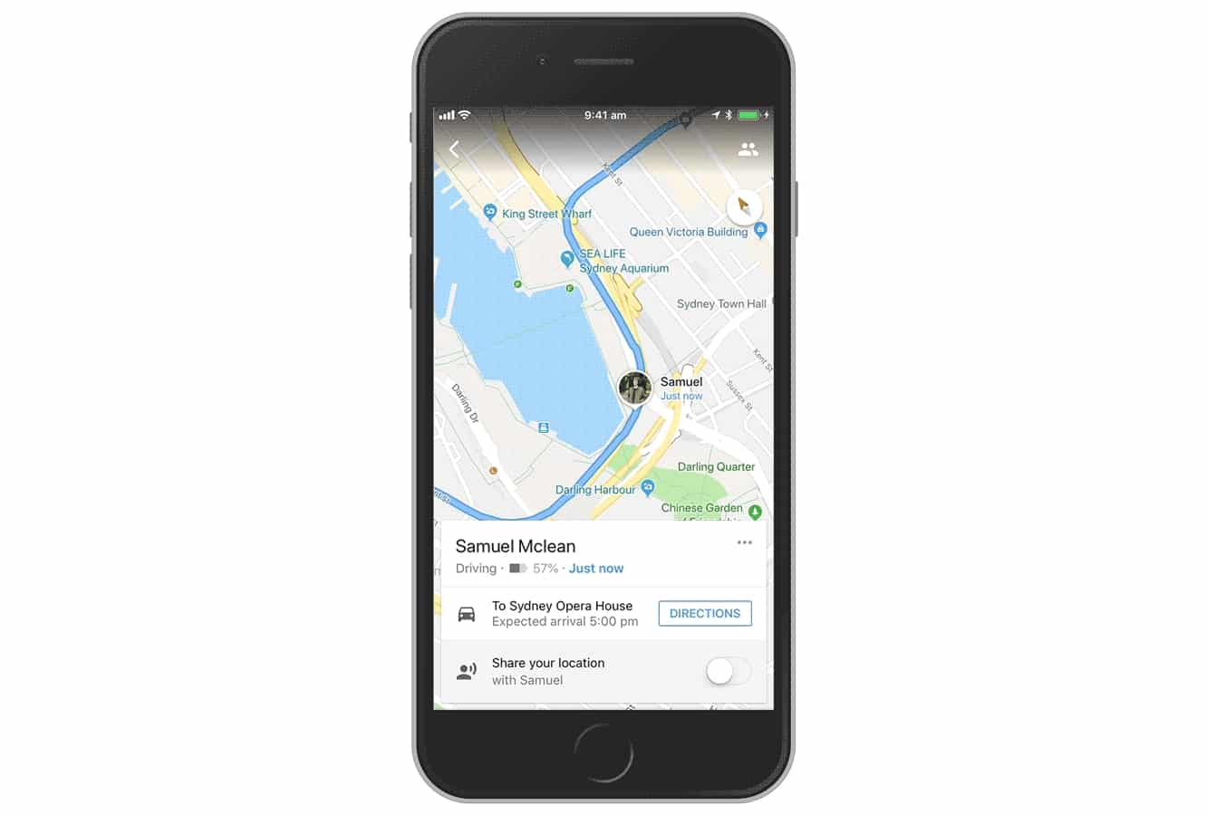 Google Maps for iOS gets real-time trip and ETA sharing