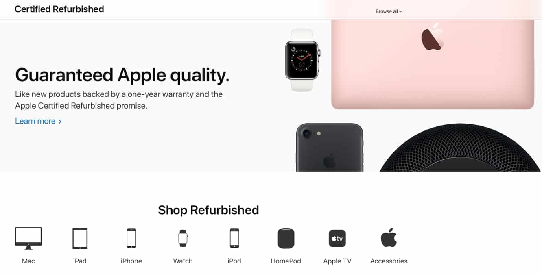 Apple's Certified Refurbished Products Online Store gets major overhaul
