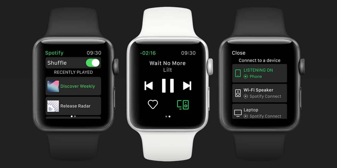 Spotify now available on Apple Watch