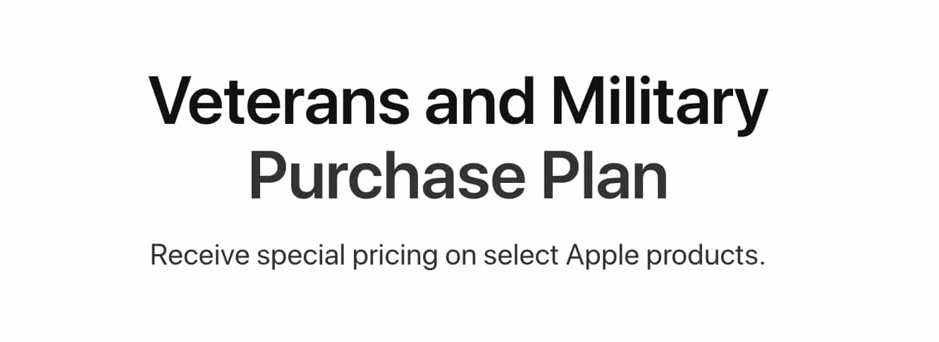 Apple launches online store with discounts for Veterans and Military Members