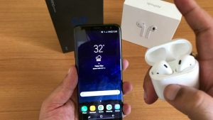 Connect AirPods with Samsung Galaxy S10, S10e and S10+
