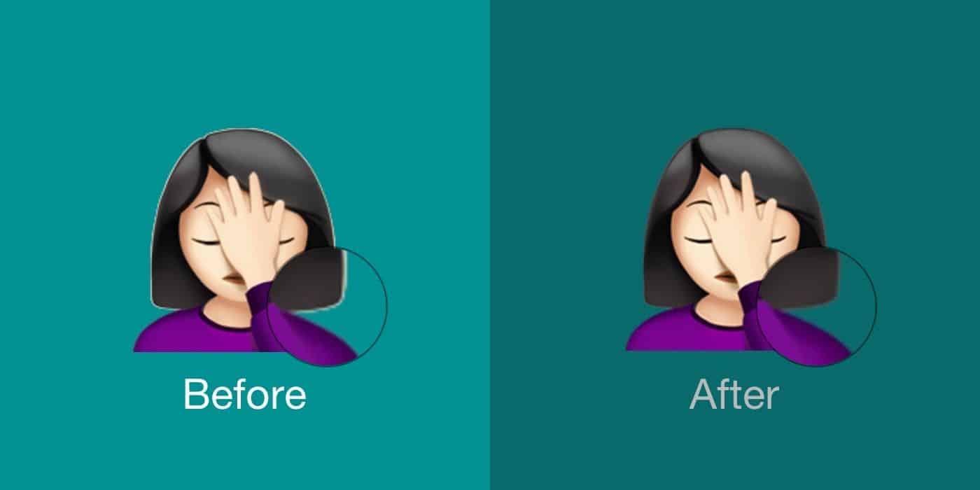 New Emojis in iOS 12.2 Facepalm