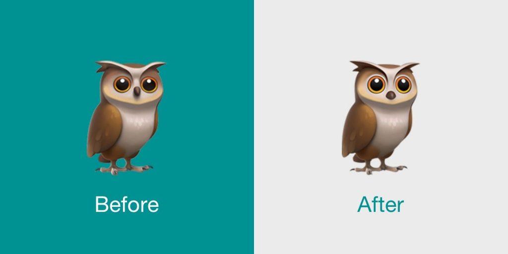 New Emojis in iOS 12.2 owl