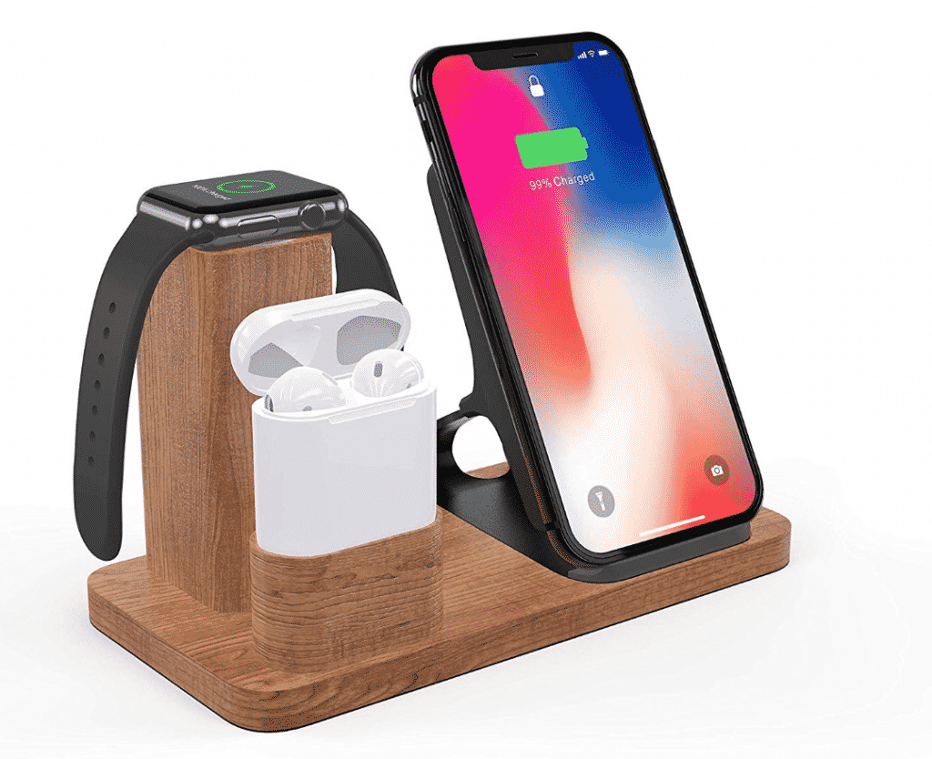 Wooden AirPower Alternative with 3 in 1 Wireless Charger