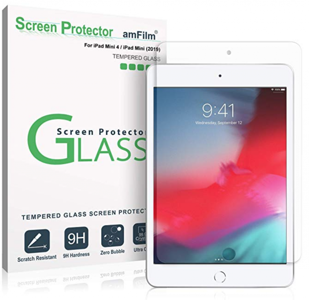 amFilm Tempered Glass Screen protector for iPad Mini 5
