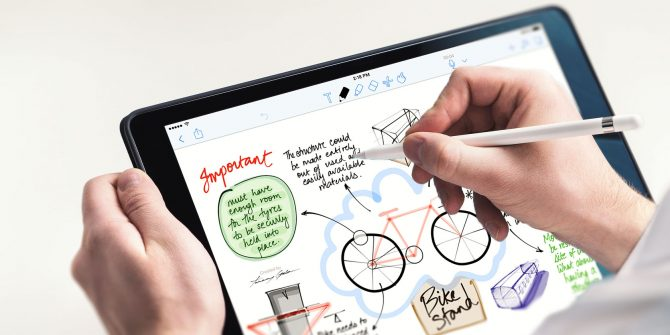 iPad supports the use of Apple Pencil