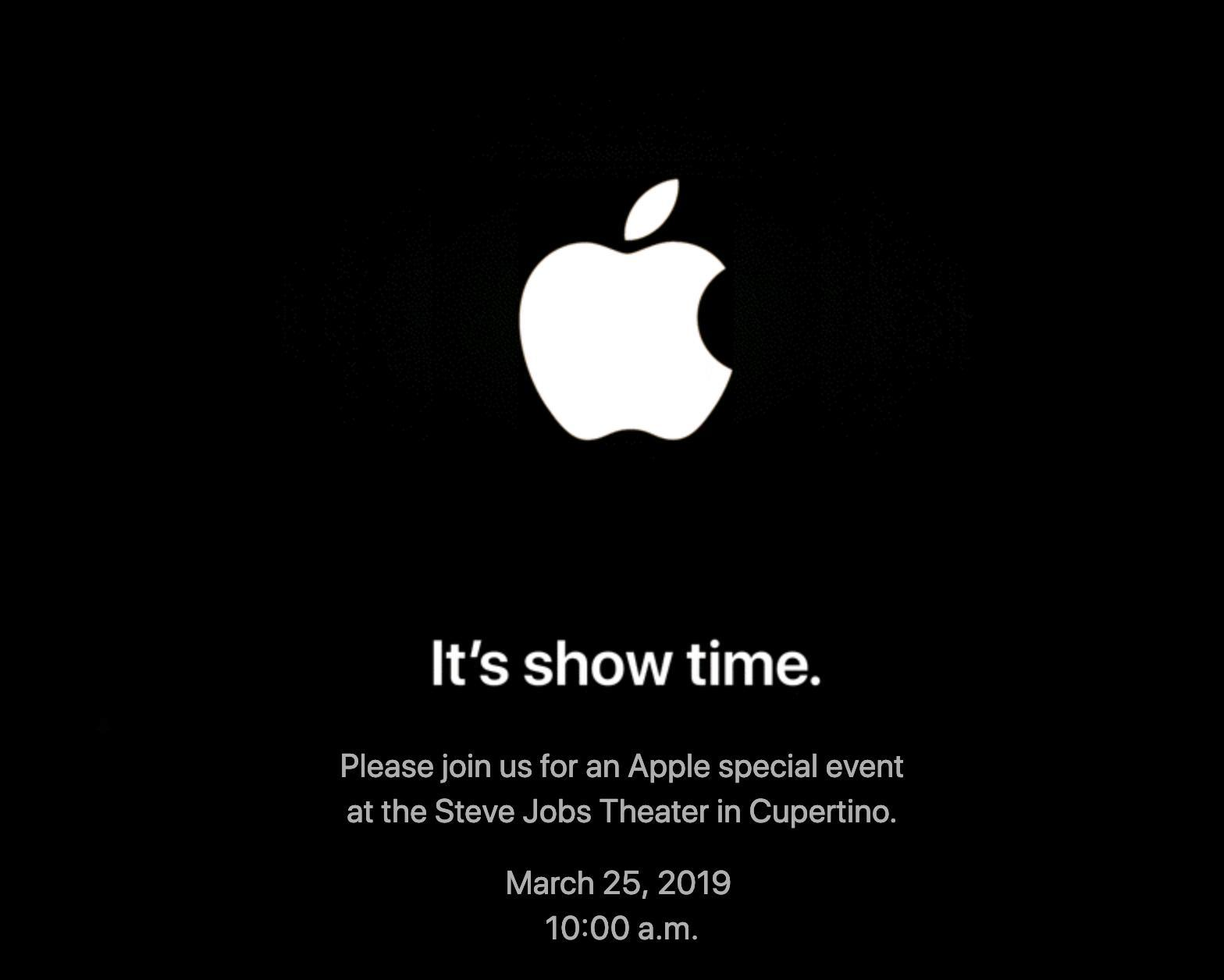 Apple Show time 25th March Event
