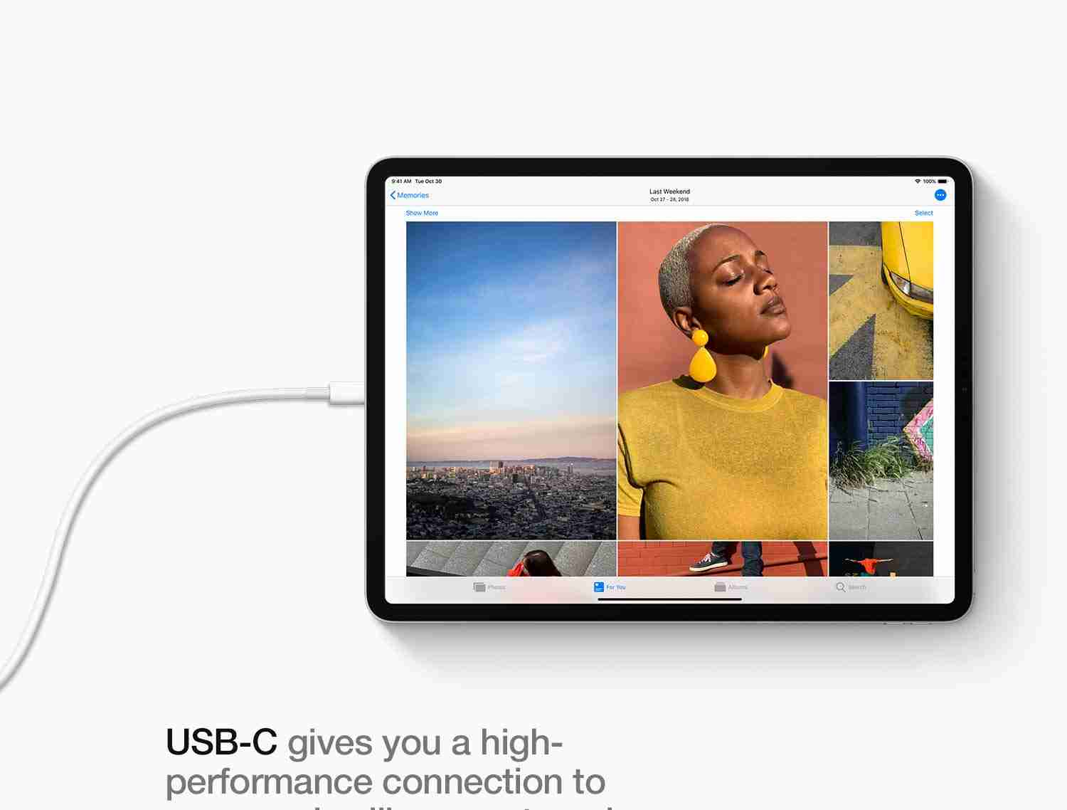 iPad Pro has a single USB-C port
