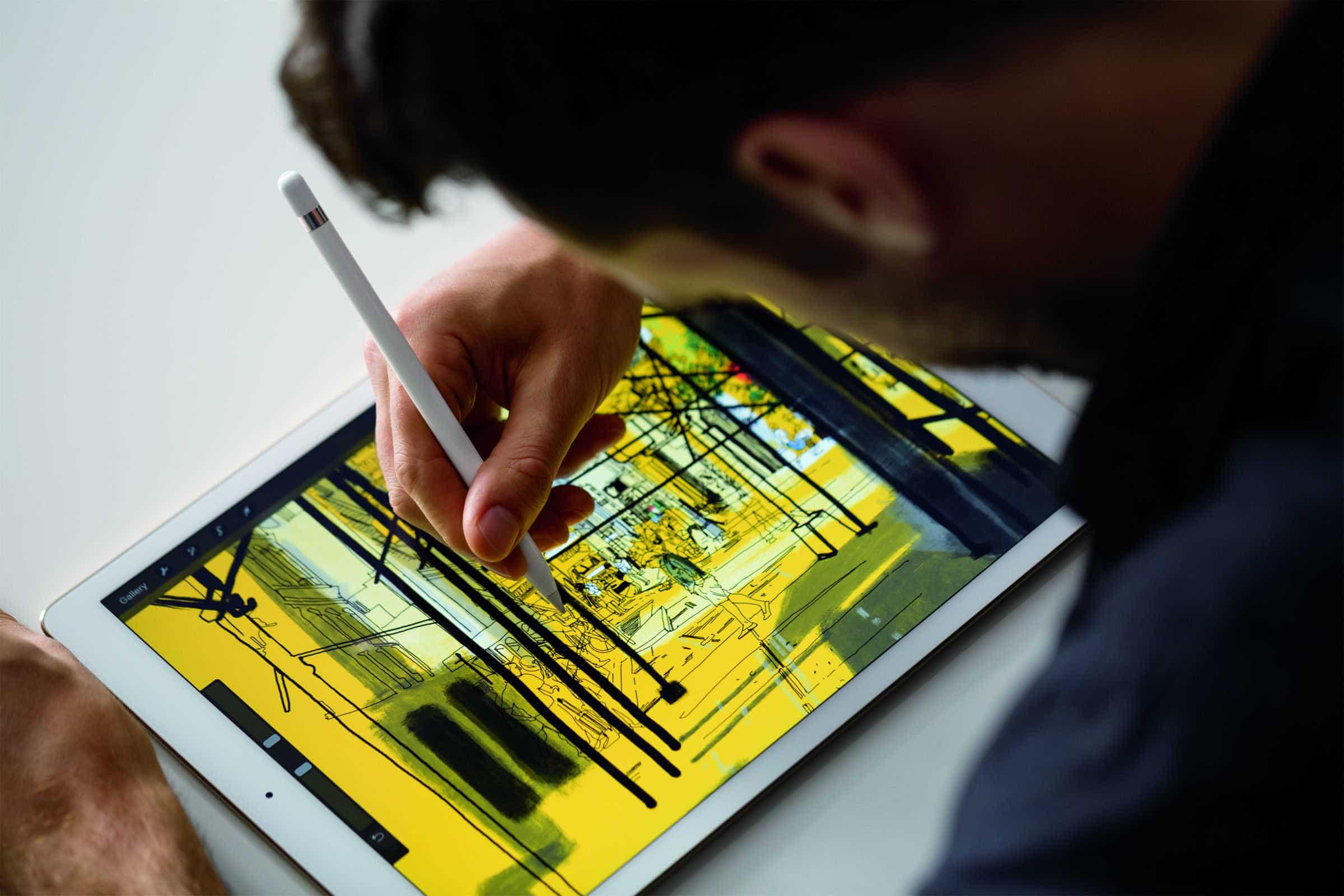 Sketching on an iPad