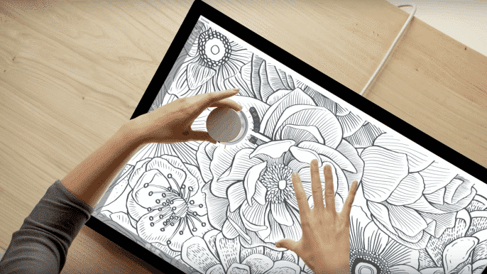 Surface Studio supports touch based input