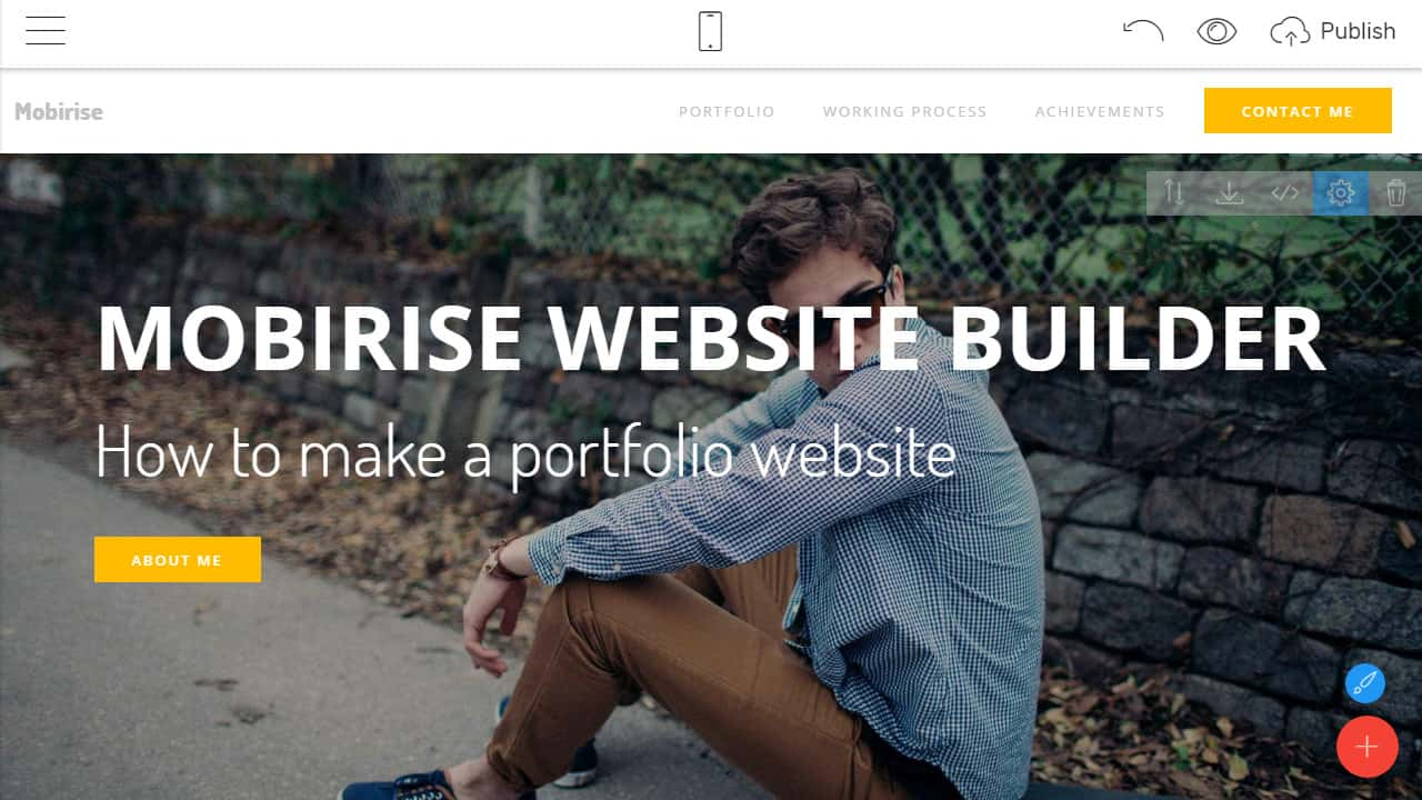 How To Make A Portfolio Website - Mobirise Website Builder