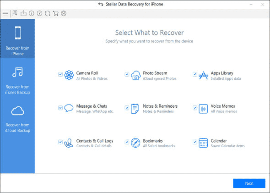 Recover Deleted Data from iPhone Using Stellar Data Recovery for iPhone