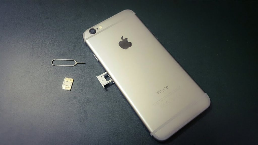 SIM card in an iPhone 6