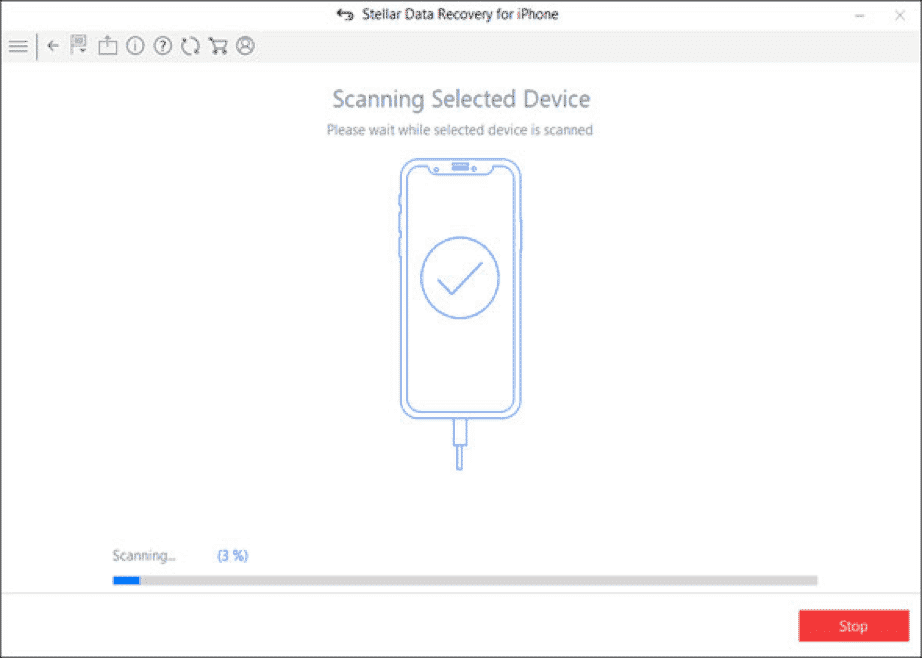 Scanning selected Device